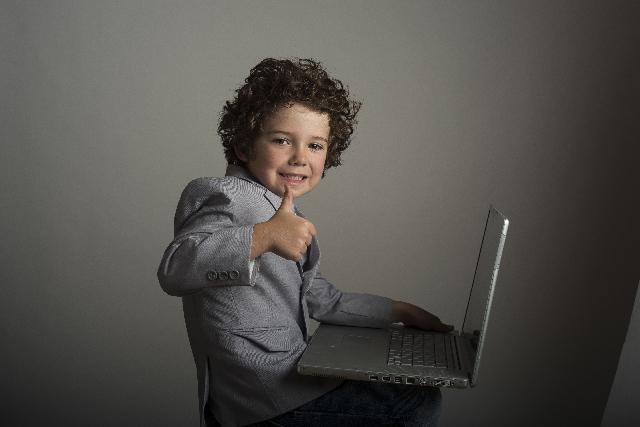 パソコン子ども